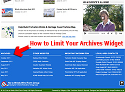 Wordpress Limit Archive Widget